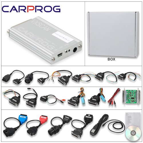 [Ship from US/UK] Carprog Full Perfect Online Version Firmware V8.21 Software V10.93 with Full Authorization And All 21 Adapters