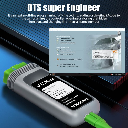 VXDIAG VCX SE For Benz obd2 scanner Car mechanic tool Offline Coding support the DoIp function without HDD