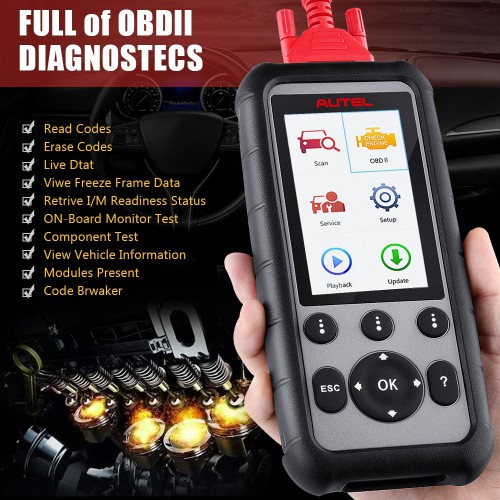 [Ship From US/UK] Original Autel MaxiDiag MD806 Pro Full System Diagnostic Tool Same as MD808 Pro Lifetime Free Update Online