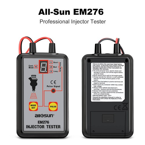 [Ship From US] All-Sun EM276 Injector Tester 4 Pluse Modes Powerful Fuel System Scan Tool