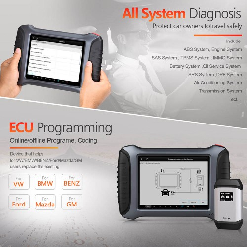 XTOOL A80 Pro with XVCI Max Full System OBD2 Car Diagnostic Tool Same As The H6 Pro Free Update Online