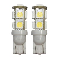 T10 9 SMD 5050 White LED Car Light Bulb Lamp DC 12V 2pcs/lot