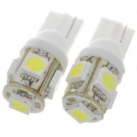 T10 194 W5W Bulb 5SMD Wedge Car White LED Light