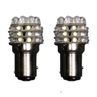 T25 1157 White 36 LED Car Turn Brake Light Bulb Lamp (Pair)
