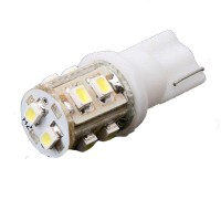 T10 168 194 Car White 10 LED SMD Light Bulb Lamp 12V (Pair)