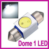 31mm High Power 1W LED SMD Festoon Dome Car Light Bulb Lamp 3243 6418 White 12V
