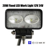 20W Flood LED Work Light OffRoad Jeep Boat Truck IP67 12V 24V
