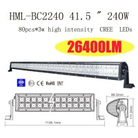 "42"" 240W Led Alloy 60 Degree Flood Light Combo Work Bar Diving Light Lamp Off Road 4WD SUV"