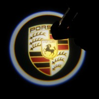 OLD Porsche Cayenne Original Naante super cool Logo Car Auto Special Supper Door Lamp Welcome Light