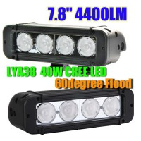 40W CREE Led light bar FLOOD light SPOT light WORK light 12V-24V 6000K