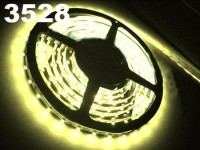 New 5M Car Warm White 3528 SMD LED Waterproof Strip 12V 600 LEDs