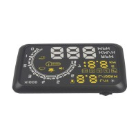 Car HUD Showing OBD Insert Head Up Display KM/h & MPH Speeding Warning OBD2 System W02