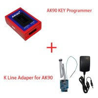 AK90 key programmer for BMW + K-LINE 0D46J EWS adapter