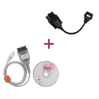 INPA/Ediabas K+CAN USB Interface OBD2 Scanner with FT232RL Chip for BMW  plus 20Pin to obd2 16 Pin Connector