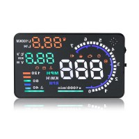 "5.5"" Large Screen Car HUD Head Up Display Fits All OBD2 Cars"