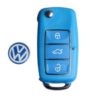 Volkswagen B5 type remote key shell 3 buttons with waterproof 5 pcs/lot(blue)