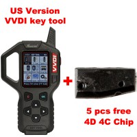 Original Xhorse VVDI Key Tool Remote Maker Key Programmer USA Version V2.2.2  get 5 pieces free 4D 4C Copy chips