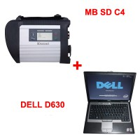 Package Offer MB SDC4 Star Diagnosis with V2019.3 256GB SSD Plus DELL D630 Laptop 4GB Memory