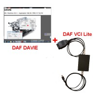 DAF VCI Lite+DAF DAVIE DEVELOPER TOOL+DAF DAVIE(DEVIK) for adblue removal