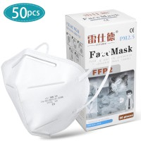 LEISHIDE FFP2 KN95 Face Mask CE FDA Certified Personal Protection 50pcs