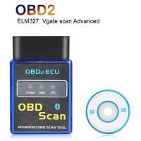 ELM327 Vgate Scan Advanced OBD2 Bluetooth (Support Android and Symbian) Software V2.1 Hardware V1.5