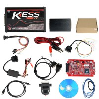 [UK SHIP] Red PCB! KESS V2 V5.017 Firmware EU online Version No Token Limited Support 140 Protocols
