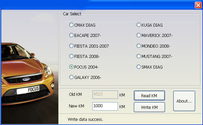 KM Tool (CAN BUS) V2.0 for Ford Odometer Tool 4