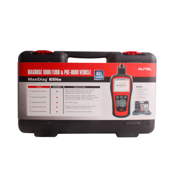autel maxidiag elite md704 package
