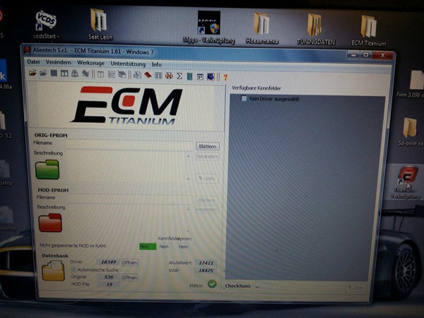New Version ECM Titanium 1.62 with 18475 Driver display 1