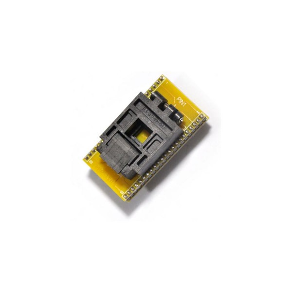 QFP44 socket adapter for chip programmer display