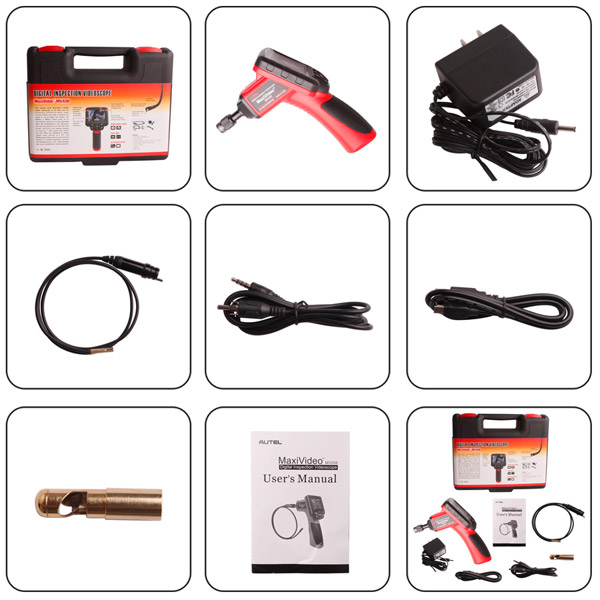 autel maxivideo mv400 package list
