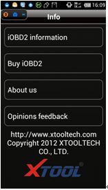 IOBD2 Diagnostic Tool Feature and Functions menu 10