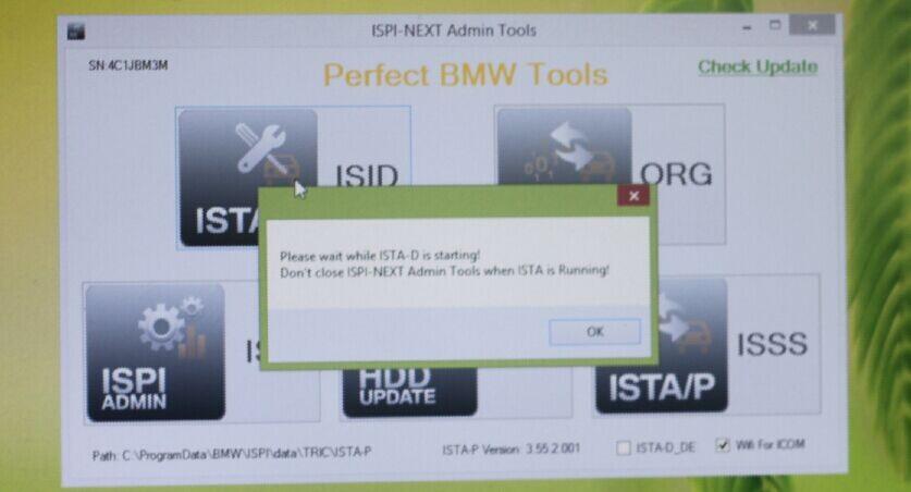 Installation Tips of ICOM  for BMW  USB wifi