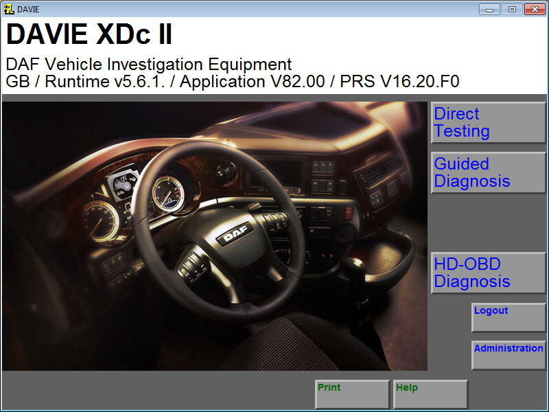 DAF VCI Lite (V1) Software