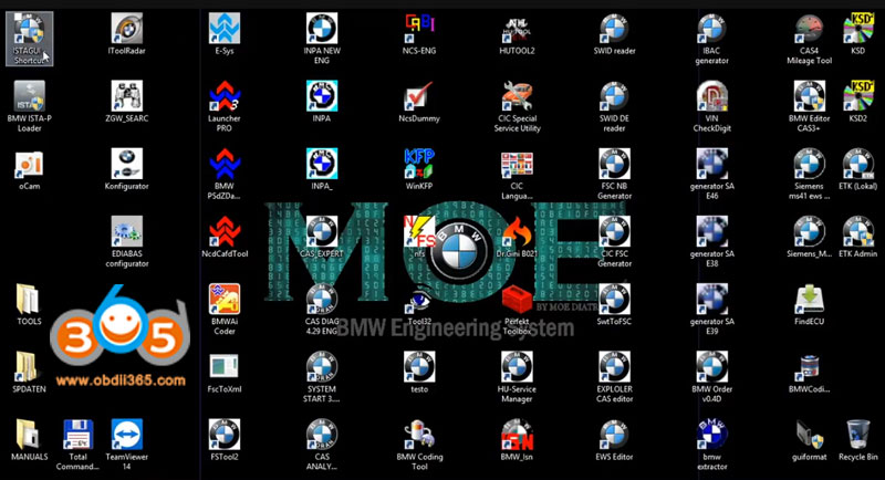 MOE BMW engineering system All Original BMW Software 500GB SSD with 1 Time  Free Activation