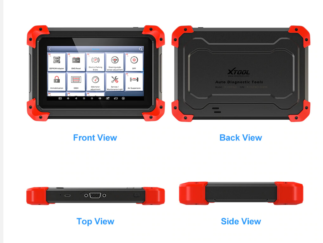 XTOOL X100 PAD Key Programmer Display