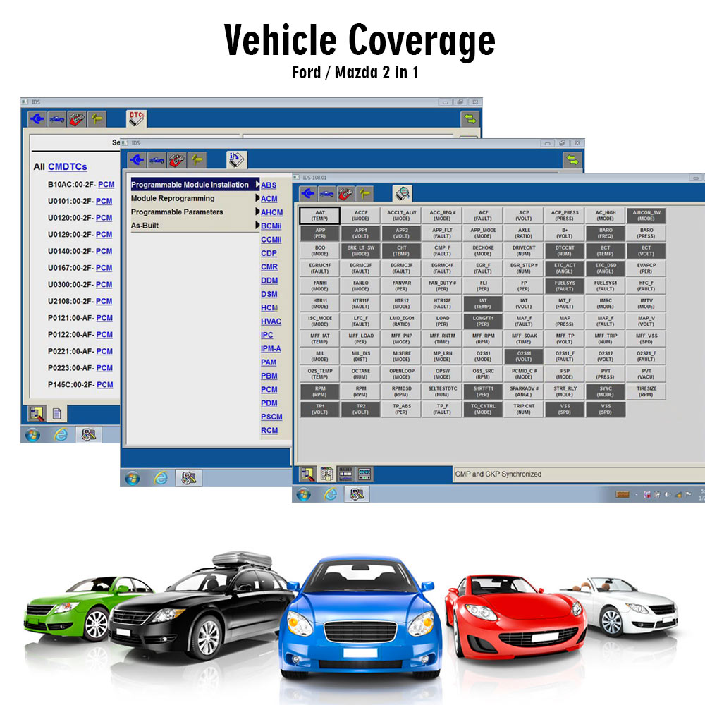 VXDIAG VCX Ford Scanner Vehicel List