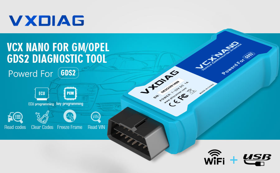 VXDIAG VCX NANO for GM/OPEL FEATURES