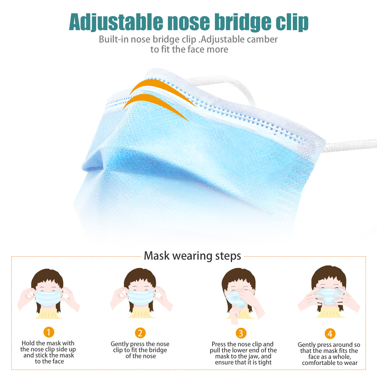 Hang-on Ear Disposable Face Mask