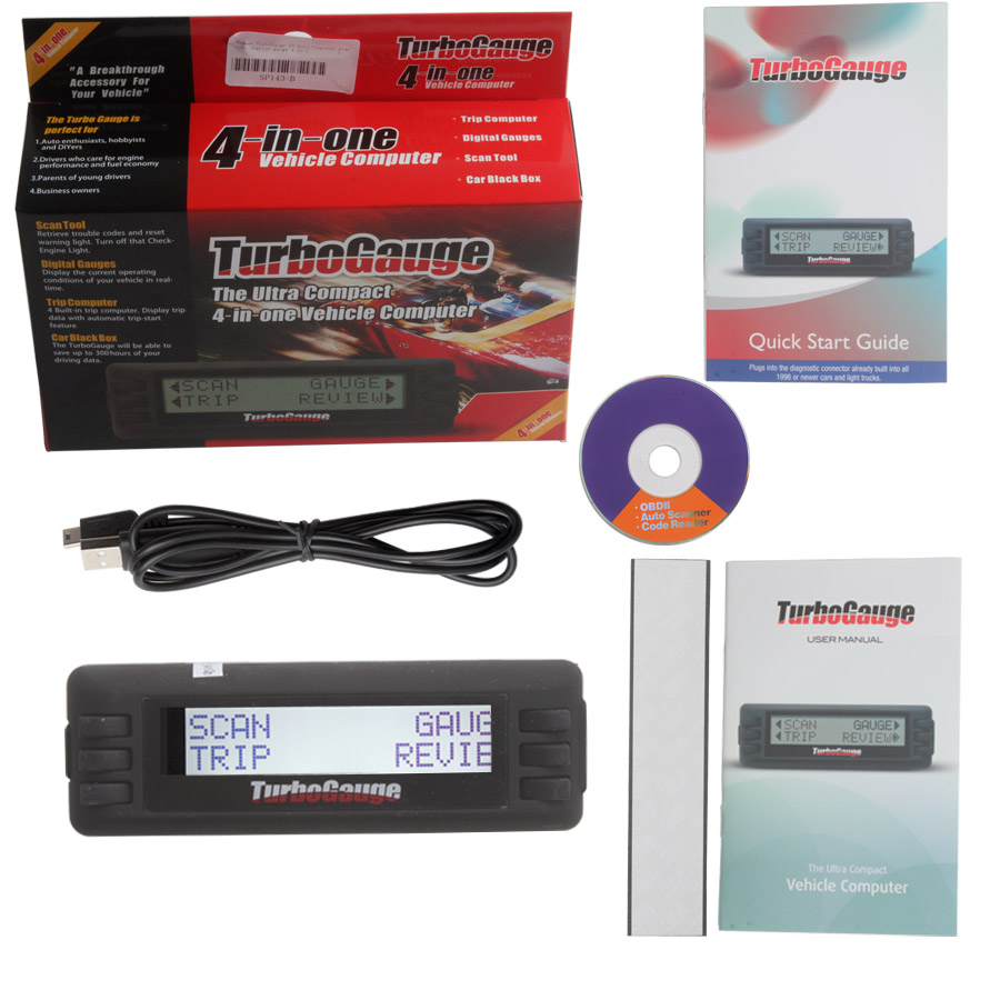 TurboGauge IV Auto Computer scan tool  package