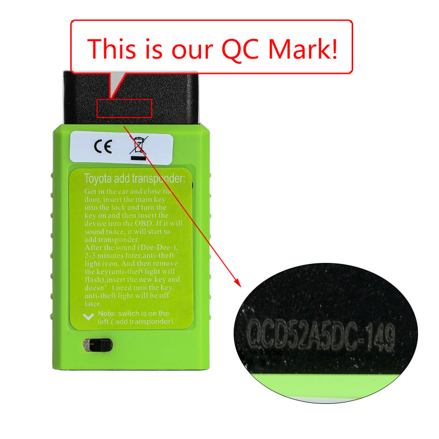 oyota G and H Chip OBD Remote Key Programming Device QC number