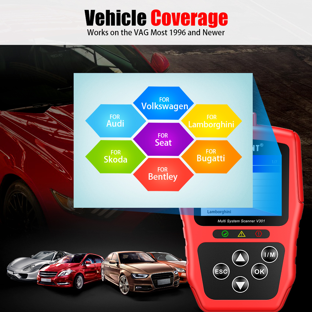 Vident V301 Vehicle Coverage
