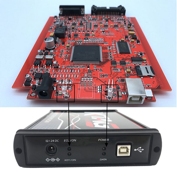 ktag Red PCB display
