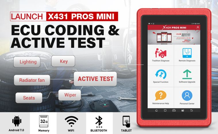 LAUNCH X431 PROS MINI display