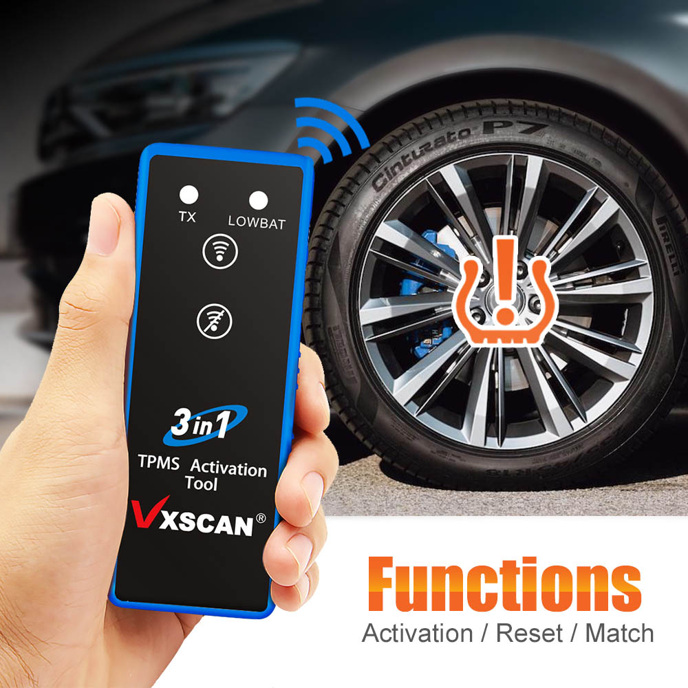 VXSCAN 3 in 1 Tire Pressure TPMS Activation Tool