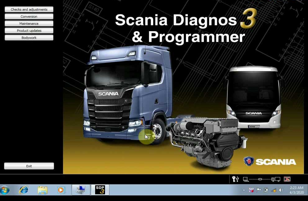 Scania VCI3 SDP3 V2.43 Software Display