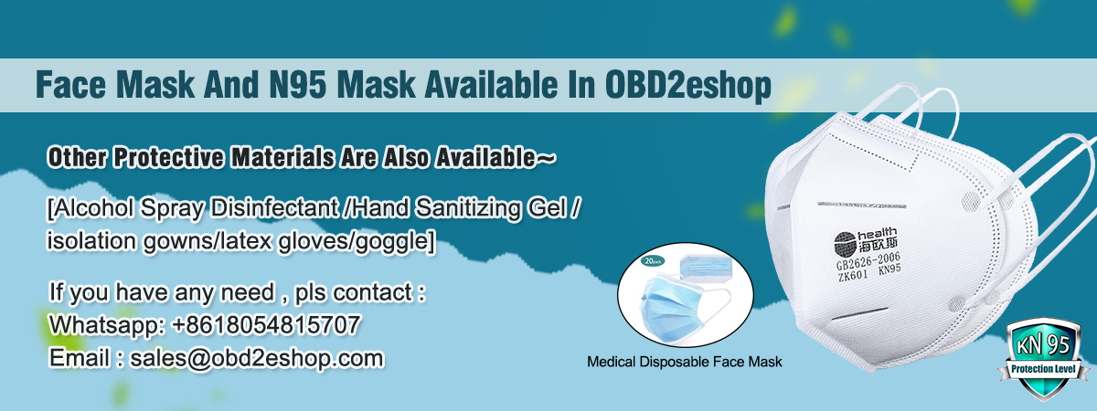 Face Mask, N95 Mask and Other Protective Materials Available In OBD2eshop