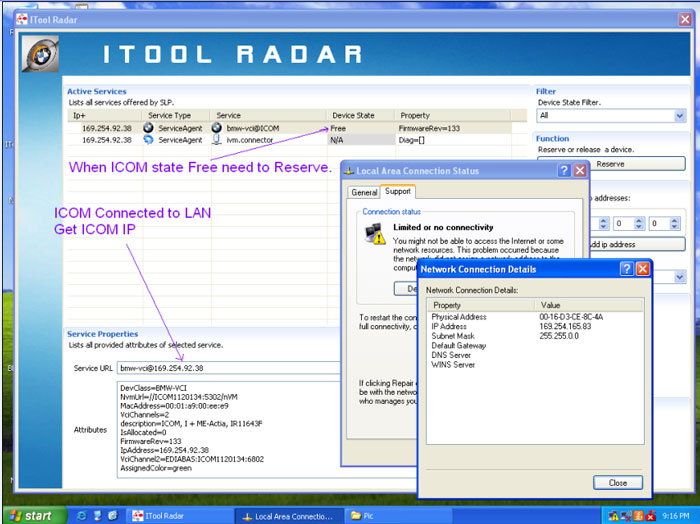 How to configure  IP for BMW ICOM A2+B+C Engineer Version 1