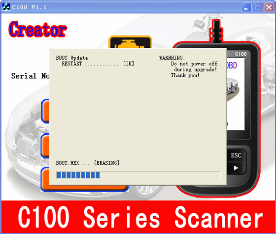 How to update Creator BMW C110 Code Reader