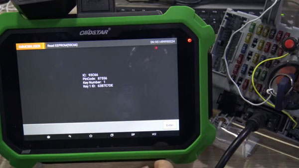 FIAT Delphi 93C66 Pincode Reading by OBDSTAR X300DP Plus